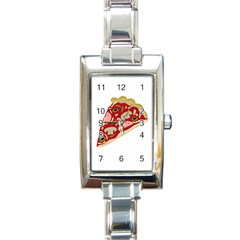 Pizza slice Rectangle Italian Charm Watch