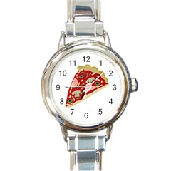 Pizza slice Round Italian Charm Watch