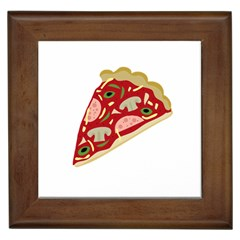Pizza slice Framed Tiles