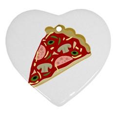 Pizza slice Ornament (Heart)