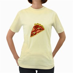 Pizza slice Women s Yellow T-Shirt