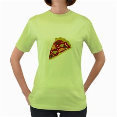 Pizza slice Women s Green T-Shirt