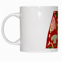 Pizza slice White Mugs