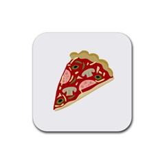 Pizza slice Rubber Coaster (Square)