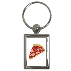 Pizza slice Key Chains (Rectangle)