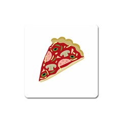 Pizza slice Square Magnet