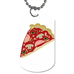 Pizza slice Dog Tag (One Side)