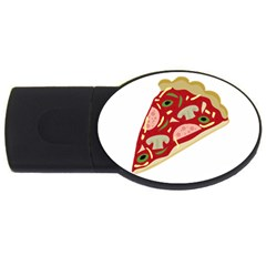 Pizza slice USB Flash Drive Oval (1 GB)