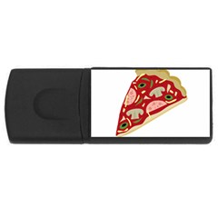 Pizza slice USB Flash Drive Rectangular (2 GB)