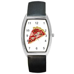 Pizza slice Barrel Style Metal Watch