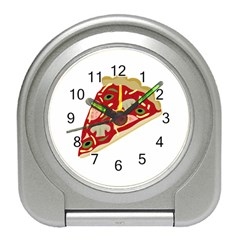 Pizza slice Travel Alarm Clocks