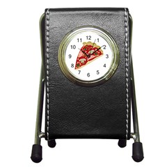 Pizza slice Pen Holder Desk Clocks