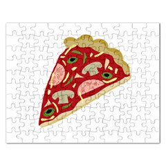 Pizza slice Rectangular Jigsaw Puzzl