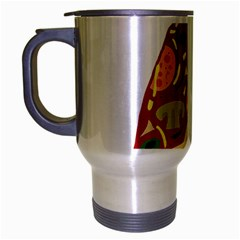 Pizza slice Travel Mug (Silver Gray)