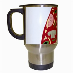 Pizza slice Travel Mugs (White)