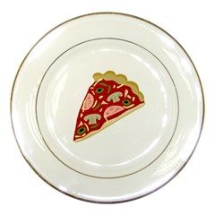 Pizza slice Porcelain Plates