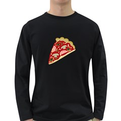 Pizza slice Long Sleeve Dark T-Shirts