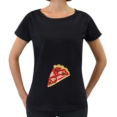 Pizza slice Women s Loose-Fit T-Shirt (Black)