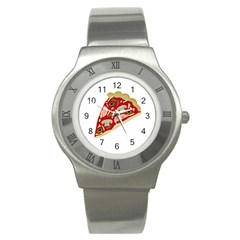 Pizza slice Stainless Steel Watch