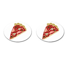 Pizza slice Cufflinks (Oval)