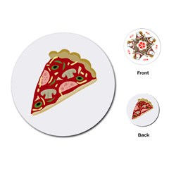 Pizza slice Playing Cards (Round)