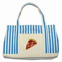 Pizza slice Striped Blue Tote Bag