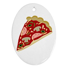 Pizza slice Oval Ornament (Two Sides)