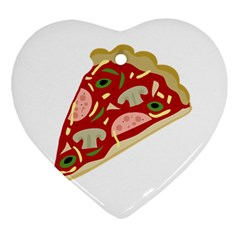 Pizza slice Heart Ornament (Two Sides)
