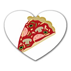 Pizza slice Heart Mousepads