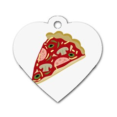 Pizza slice Dog Tag Heart (One Side)