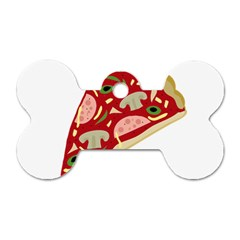Pizza slice Dog Tag Bone (Two Sides)