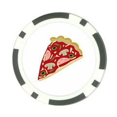 Pizza slice Poker Chip Card Guard