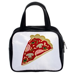 Pizza slice Classic Handbags (2 Sides)