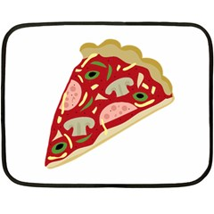 Pizza slice Double Sided Fleece Blanket (Mini)