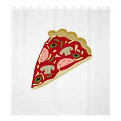 Pizza slice Shower Curtain 66  x 72  (Large)
