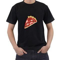 Pizza slice Men s T-Shirt (Black)