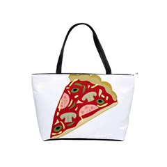Pizza slice Shoulder Handbags