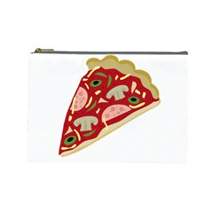Pizza slice Cosmetic Bag (Large)