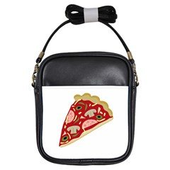 Pizza slice Girls Sling Bags