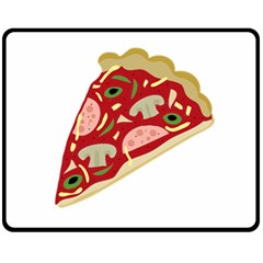 Pizza slice Fleece Blanket (Medium)