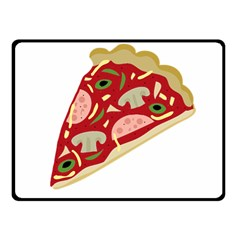Pizza slice Fleece Blanket (Small)