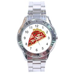 Pizza slice Stainless Steel Analogue Watch