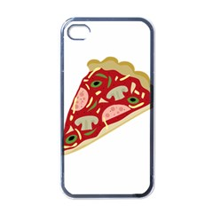 Pizza slice Apple iPhone 4 Case (Black)