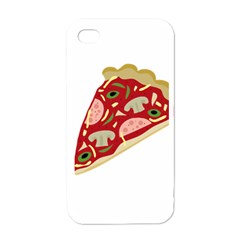 Pizza slice Apple iPhone 4 Case (White)