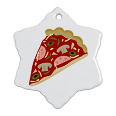 Pizza slice Snowflake Ornament (Two Sides)