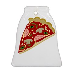 Pizza slice Bell Ornament (Two Sides)