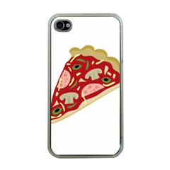 Pizza slice Apple iPhone 4 Case (Clear)