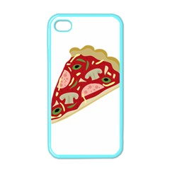 Pizza slice Apple iPhone 4 Case (Color)