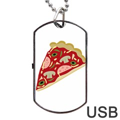 Pizza slice Dog Tag USB Flash (Two Sides)