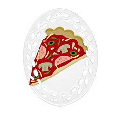 Pizza slice Ornament (Oval Filigree)